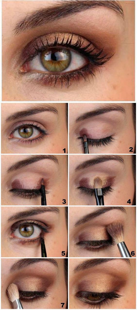 como maquillar ojos marrones paso a paso