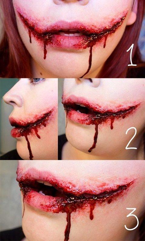 Maquillaje terrorífico de Halloween para mujeres