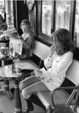 minifalda en los 60