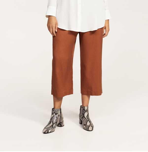 Mango Violeta pantalones otoño