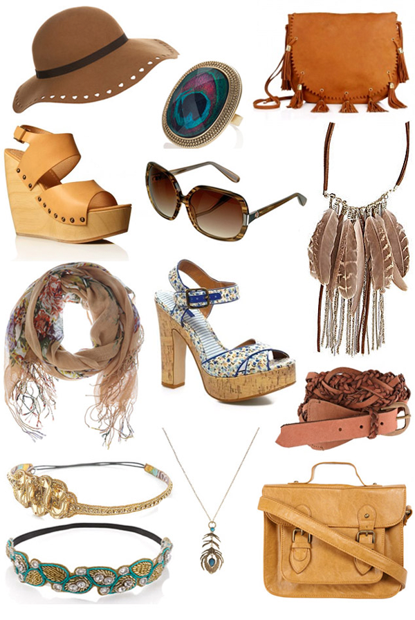 accesorios moda de los años 70