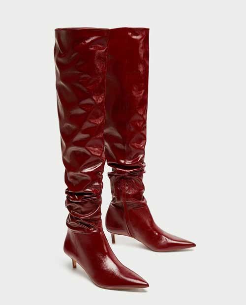 Botas altas rojas 2017