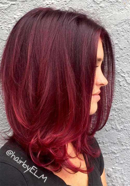 Colores de pelo rojo