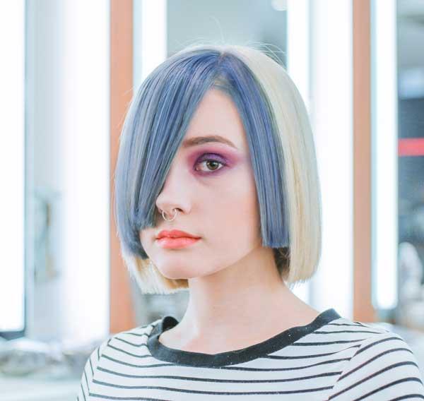 Peinados con pelo corto color