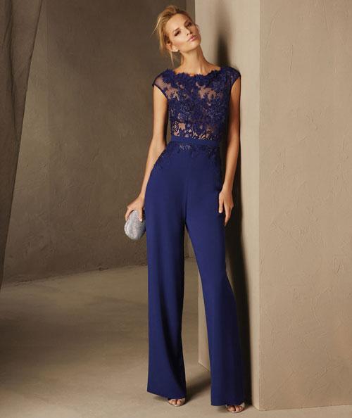 Pronovias 2017 vestidos azul oscuro