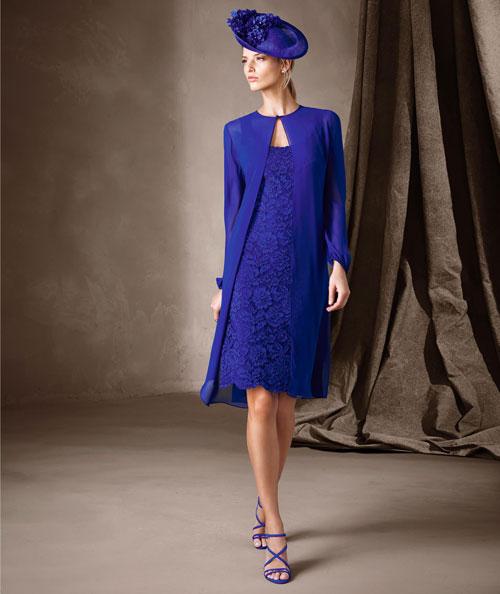 Pronovias 2017 vestidos cortos azules