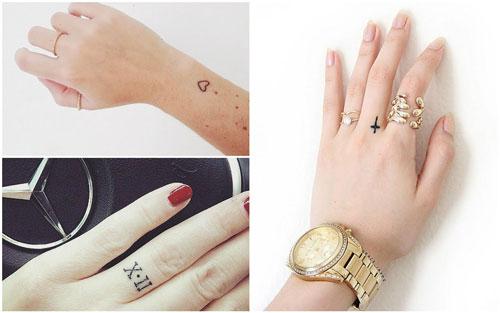 Tatuajes pequeños para mujeres en los dedos