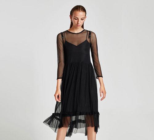 Zara Trafaluc vestido negro