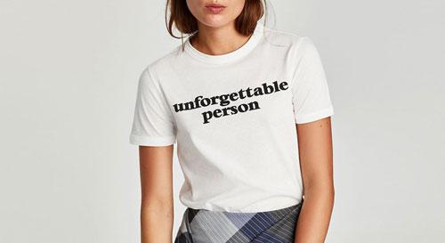 Zara Trafaluc camiseta con mensaje