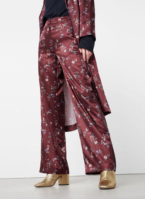 Outlet Mango pantalones de flores