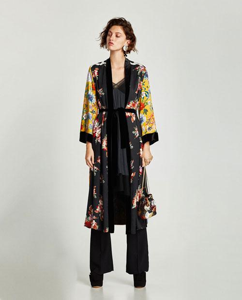kimono para mujer largo