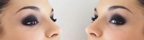 Ojos ahumados smokey negro