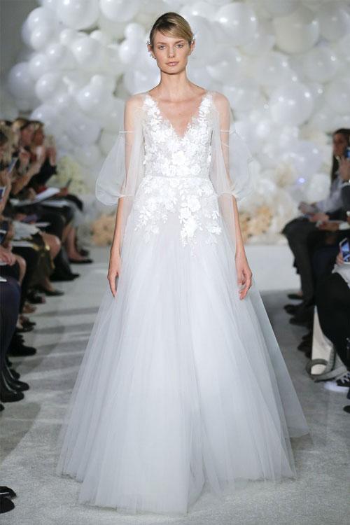 Vestidos de novia boho con tul
