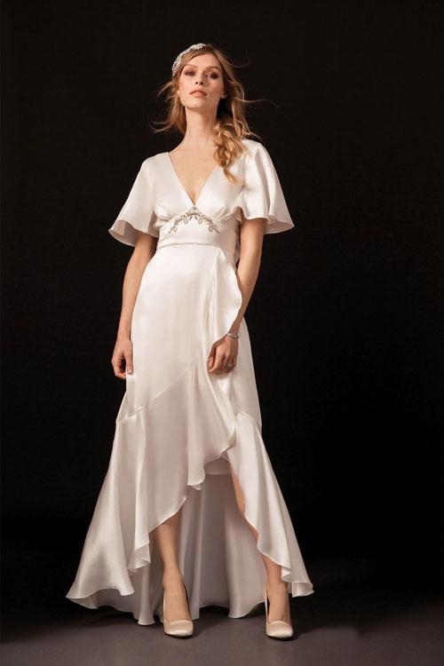 Vestidos de novia boho con mangas anchas