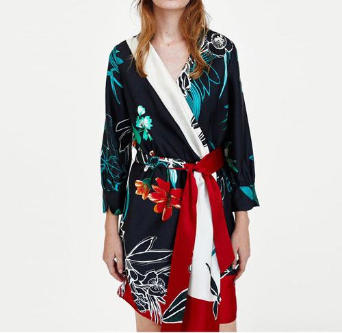 Vestidos con flores tipo kimono