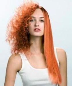 cambio de forma en el pelo