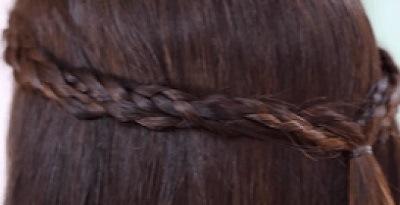 Peinados con trenzas recogidos para cabello largo
