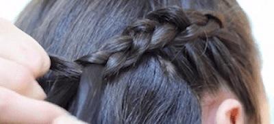 Peinados con trenzas pelo suelto