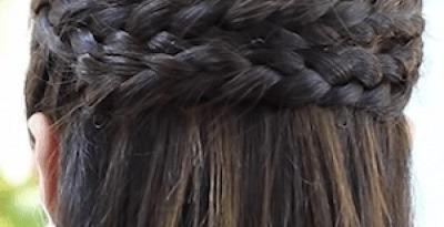 Peinados con trenza de espiga
