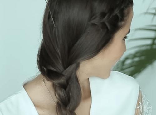 Imagen de peinado con trenzas