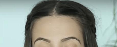 Peinado con trenzas laterales