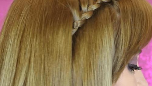 Resultado peinado con trenza