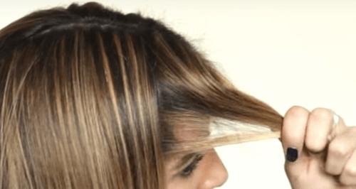 Sacar pelo para flequillo