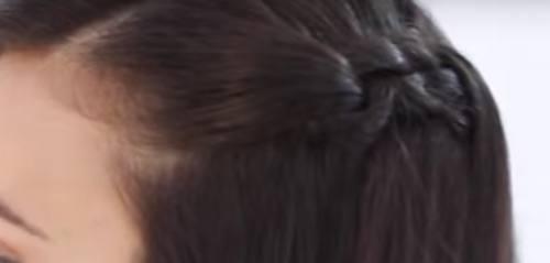 Así queda el peinado con trenzas