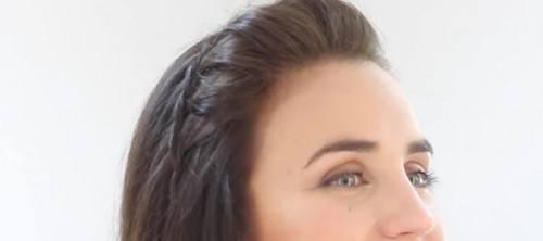 Peinado con trenza de raiz facil