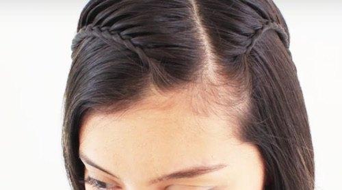 Peinado con trenzas para media melena