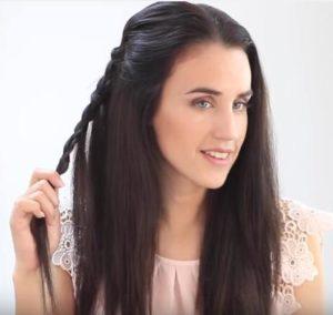 Sujetar trenza sin terminar longitud del cabello