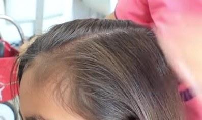 Dividir cabello en dos zonas