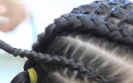 Sujetar cabello con goma