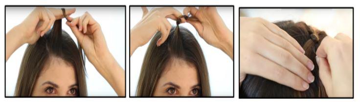 Hacer nudo cabello