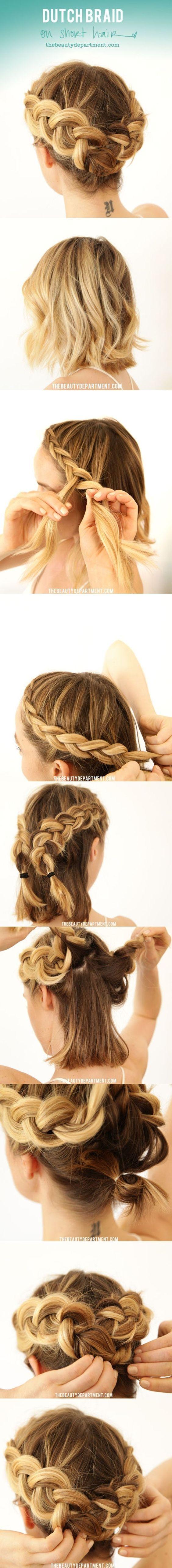 Peinado original con trenzas