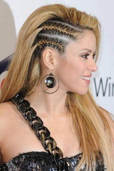 Shakira con trenzas