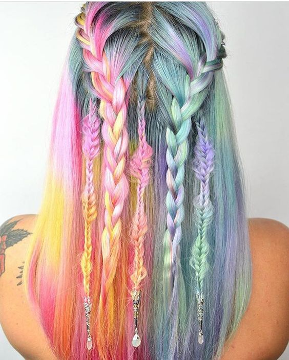 Trenzas de color