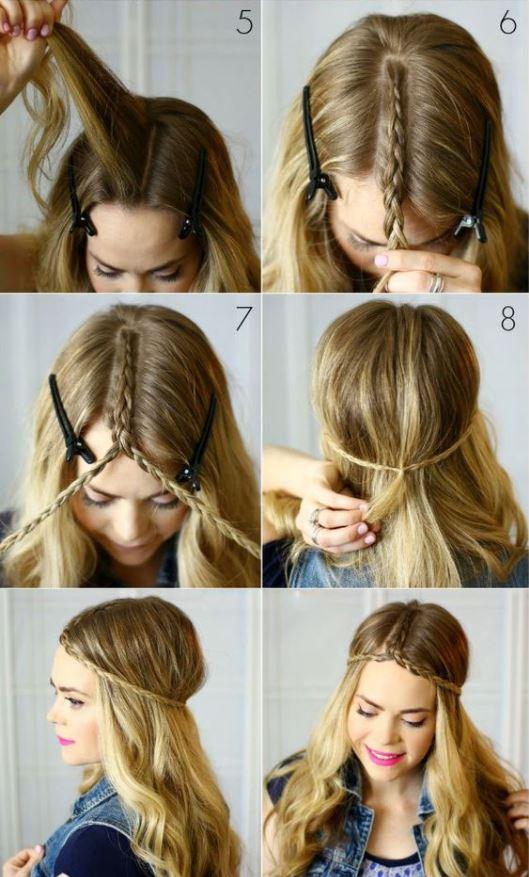 Peinado estilo bohemio