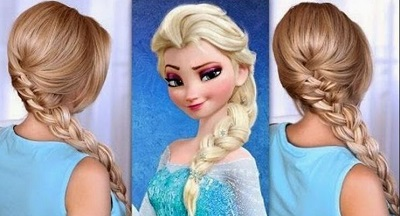 Peinado de frozen