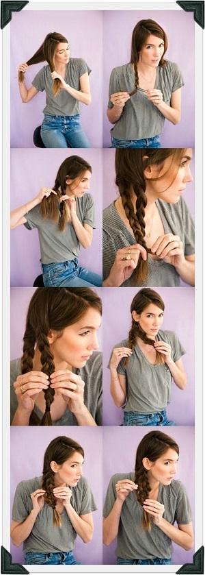Peinado trenza doble