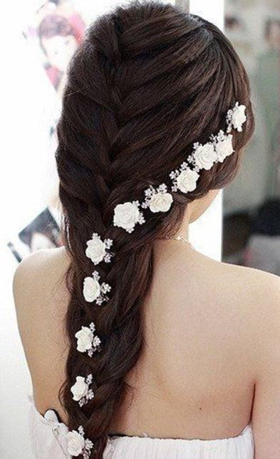 Peinados con trenza romantica