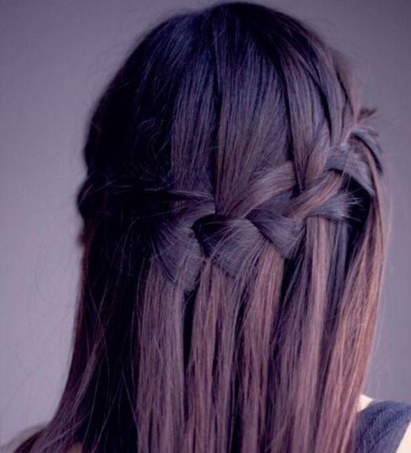 Libre Con Estilo Tu Pelo Suelto Con Trenzas - Peinados-con-trenzas-y-pelo-suelto