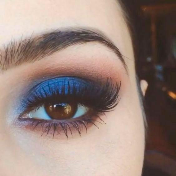 ojos marrones sombras azules
