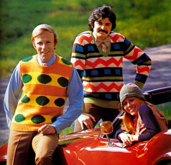 moda hombre años 70