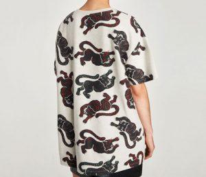 Zara Trafaluc camiseta estampada
