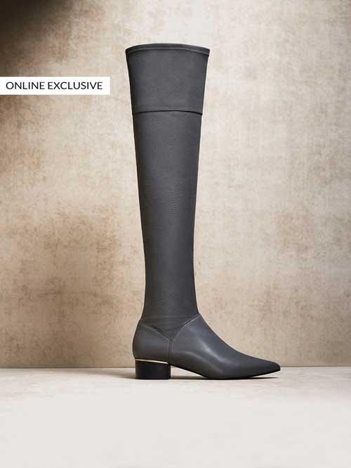 Botas altas grises