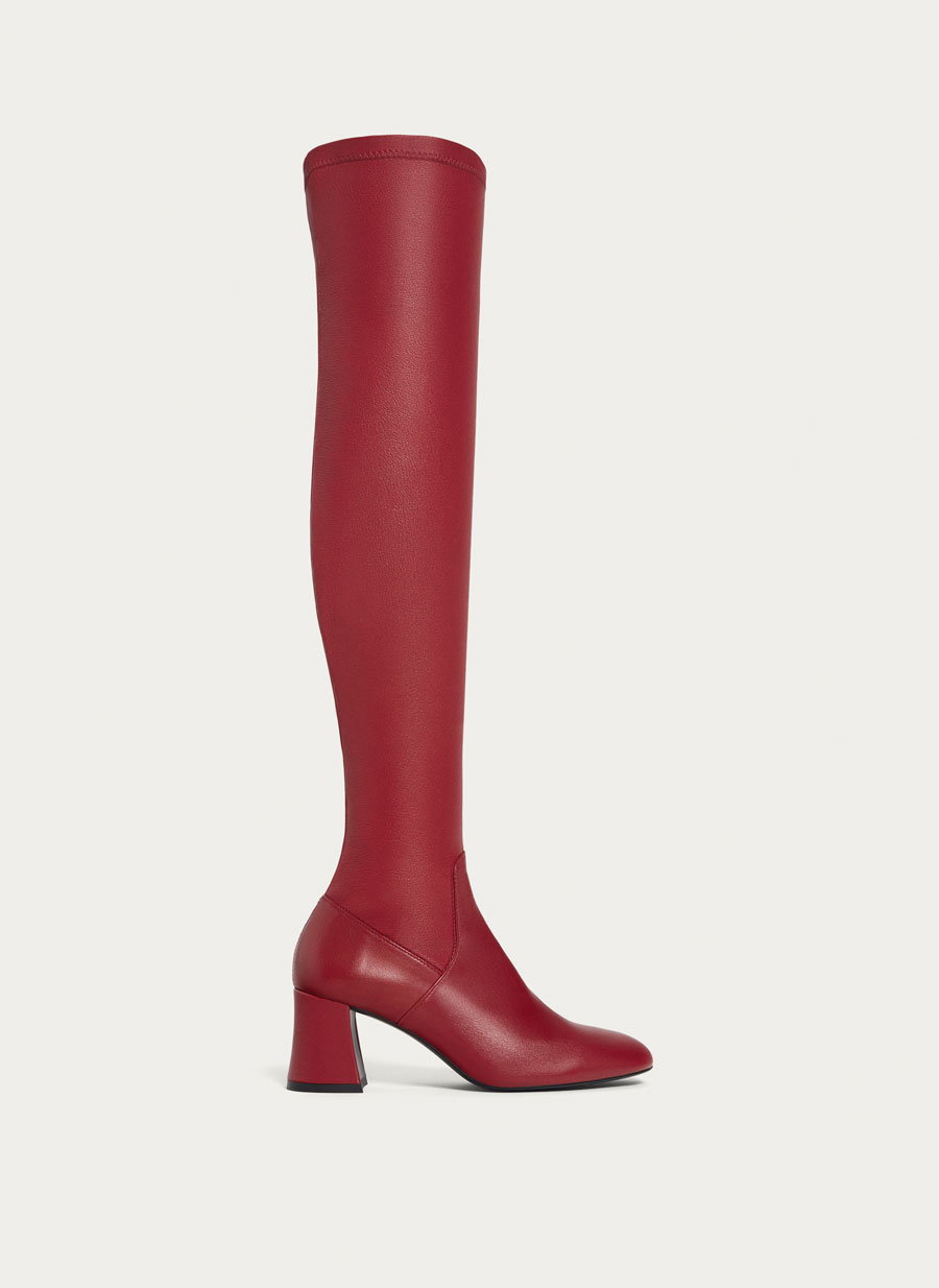 Botas altas rojas XL