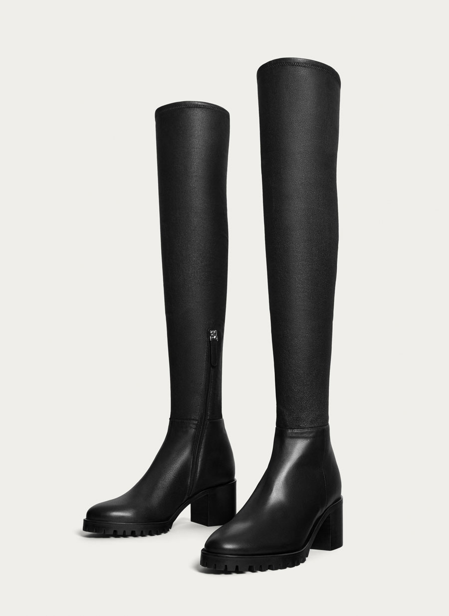 Botas altas negras cómodas
