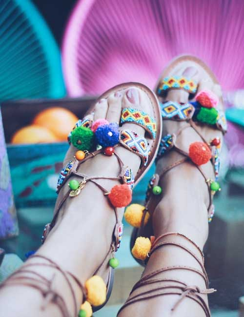 Moda ibicenca sandalias