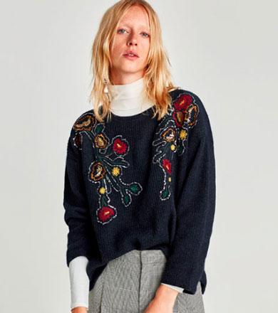 moda otoño invierno bordado